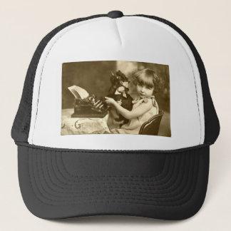 Typewriter girl trucker hat