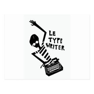 Typewriter Graphic Postcard