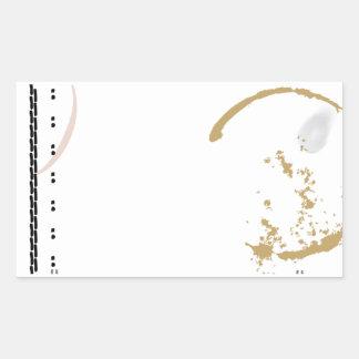 Typewriter Grunge Coffee Stain Sticker