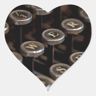 Typewriter Heart Sticker