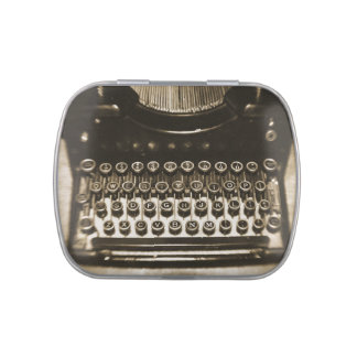 Typewriter Jelly Belly Candy Tin