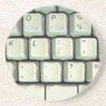 Typewriter Keyboard Beverage Coaster