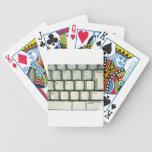 Typewriter Keyboard Bicycle Poker Cards