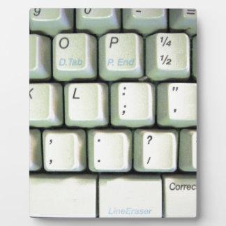 Typewriter Keyboard Display Plaques