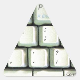 Typewriter Keyboard Triangle Sticker