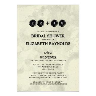Typewriter Keys Bridal Shower Invitations Card