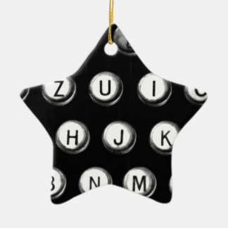Typewriter keys ceramic ornament