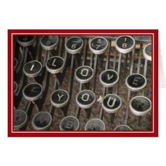 Typewriter Keys I Love You Greeting Card