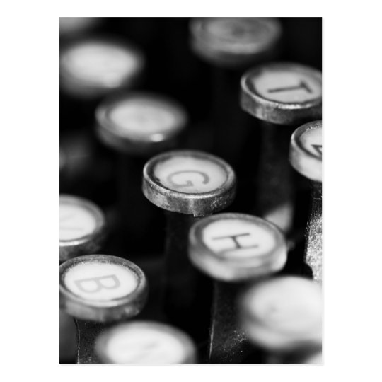 Typewriter keys postcard