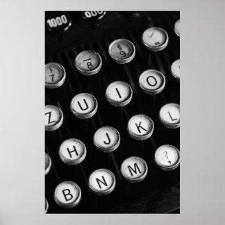 Typewriter keys posters