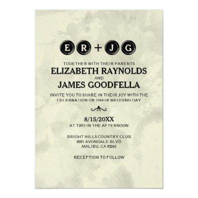 Retro Typewriter Keys Wedding Invitations Zazzle Com
