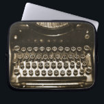 """Typewriter Laptop Sleeve<br><div class=""""desc"""">Amazing still life of an old typewriter.  Fun and unique design.</div>"""