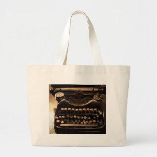 Typewriter Large Tote Bag