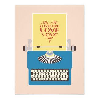 Typewriter, Love Greeting Card