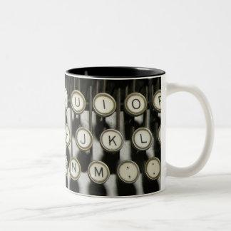 Typewriter Two-Tone Coffee Mug