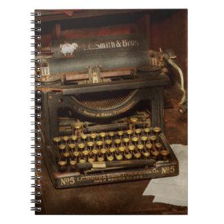 Typewriter - My bosses office Spiral Notebook