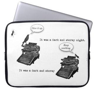 Typewriter Pep Talk Laptop Sleeve