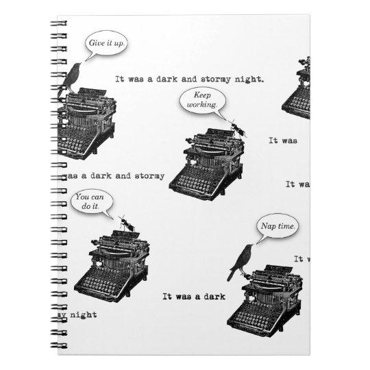 Typewriter Pep Talk Notebook