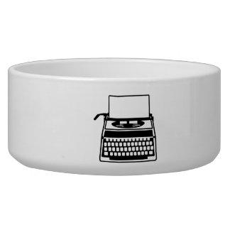 Typewriter Dog Water Bowls