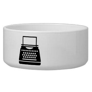 Typewriter Dog Water Bowl