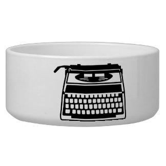 Typewriter Dog Food Bowl