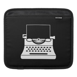 Typewriter Pictogram iPad Sleeve