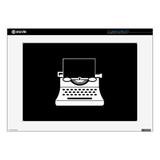 Typewriter Pictogram Latop Skin Skin For Laptop