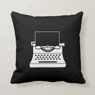 Typewriter Pictogram Throw Pillow