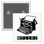 Typewriter Pinback Button