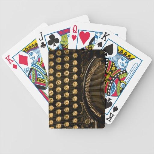 Typewriter Playing Cards