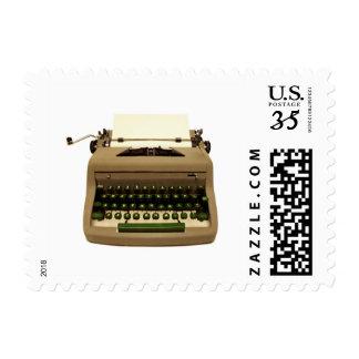 Typewriter Postage Stamp