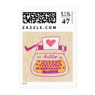 Typewriter Postage Stamps