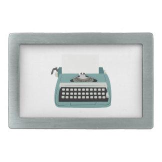 Typewriter Rectangular Belt Buckle
