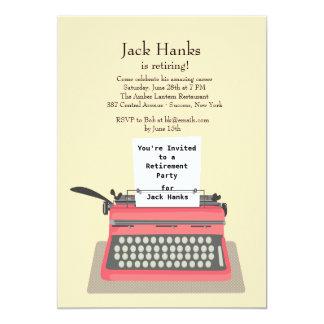 Typewriter Retirement Party Invitation