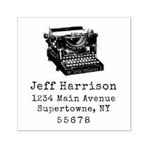 Typewriter Return Address Rubber Stamp