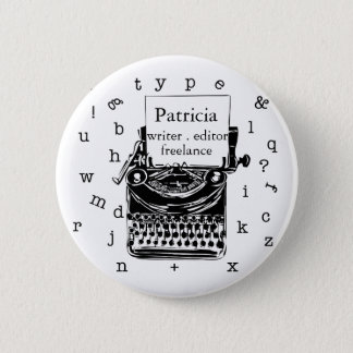 Typewriter Show Your Writing Love Or Whatever. Button