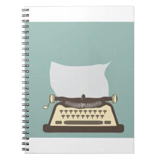 Typewriter Spiral Note Book