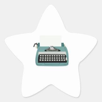Typewriter Star Sticker