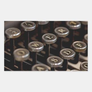 Typewriter Rectangle Sticker