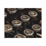 Typewriter Stretched Canvas Print