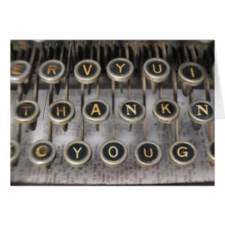 Typewriter Thank You Card