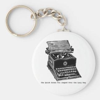 Typewriter, The Quick Brown Fox... Key Chains