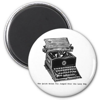Typewriter, The Quick Brown Fox... Magnet