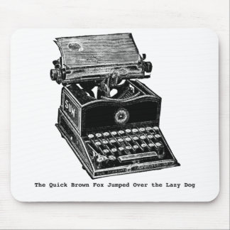 Typewriter, The Quick Brown Fox... Mouse Pad