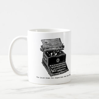 Typewriter, The Quick Brown Fox... Classic White Coffee Mug