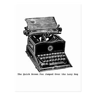 Typewriter, The Quick Brown Fox... Postcard
