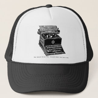Typewriter, The Quick Brown Fox... Trucker Hat