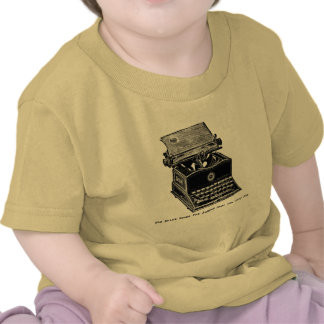 Typewriter, The Quick Brown Fox... Tshirts