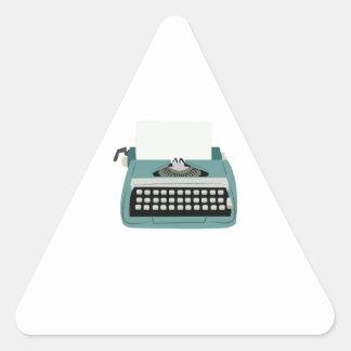 Typewriter Triangle Sticker