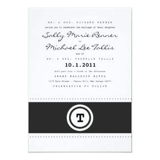 "Typewriter Wedding Invitation 5"" X 7"" Invitation Card"
